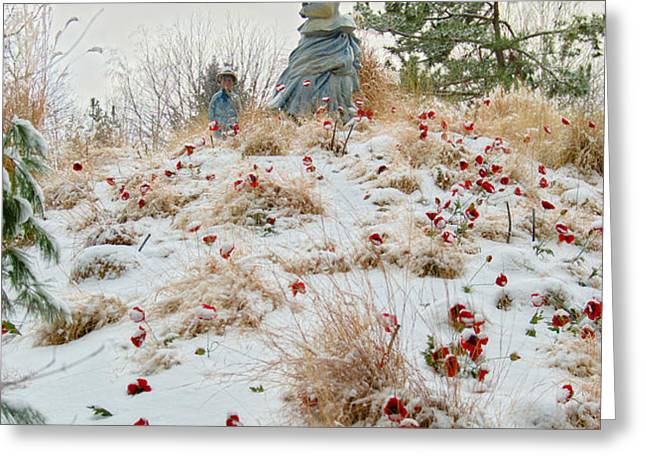 Frozen Viewpoint Greeting Card by Timothy Hedges