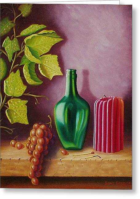 Fruit And Candle Greeting Card by Gene Gregory