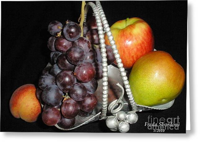 Fruit Basket II Greeting Card by Freda Sbordoni