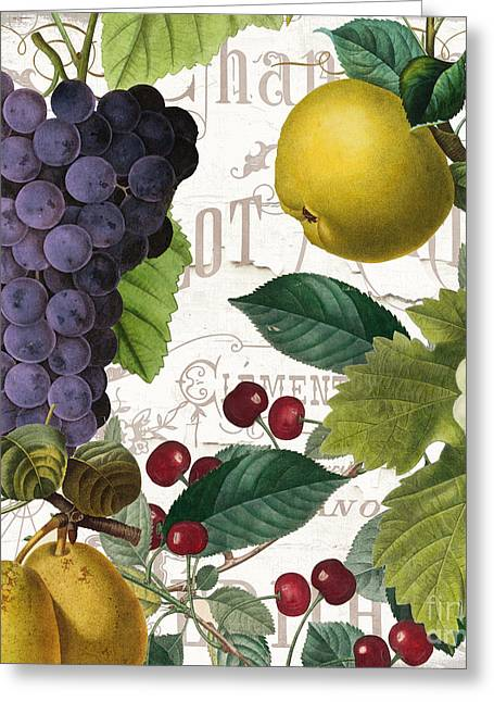 Fruit Bowl I Greeting Card by Mindy Sommers