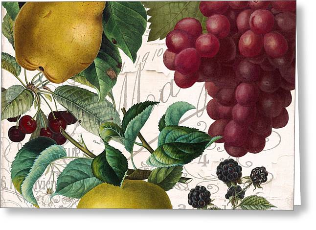 Fruit Bowl II Greeting Card by Mindy Sommers