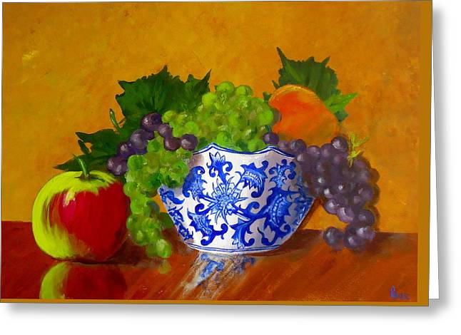 Fruit Bowl II Greeting Card by Pete Maier