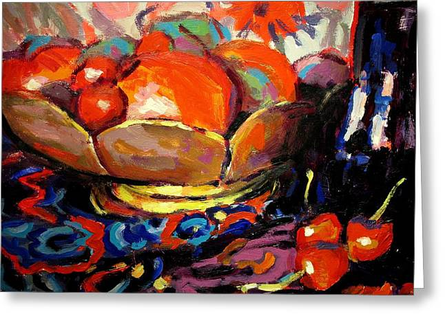Interior Still Life Paintings Greeting Cards - Fruit Greeting Card by Brian Simons