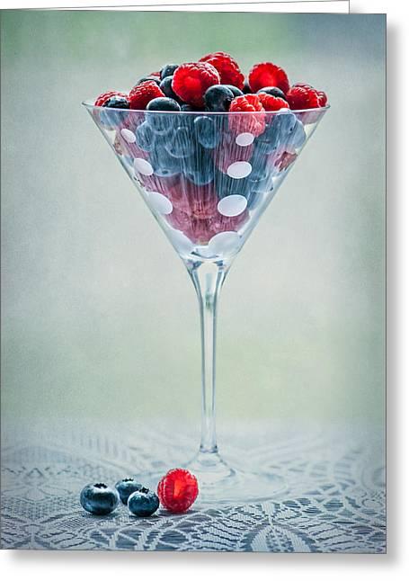 Fruit Cocktail Greeting Card by Maggie Terlecki
