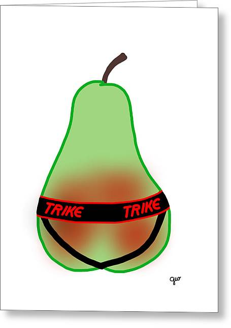Straps Greeting Cards - Fruit Cup Rear View Greeting Card by George Wachob