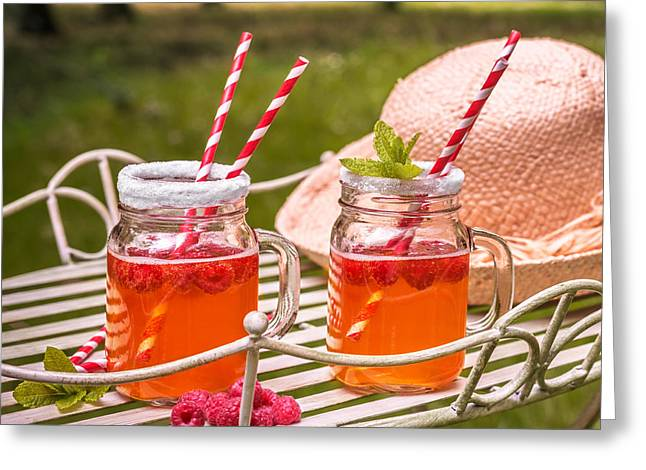 Sun Hat Greeting Cards - Fruit Drinks Greeting Card by Amanda And Christopher Elwell