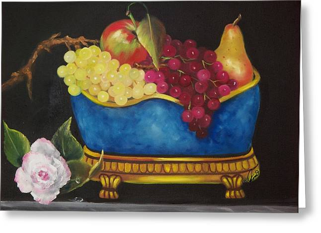 Fruit Fancy Greeting Card by Joni McPherson