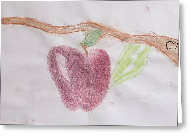 Apple Pastels Greeting Cards - Fruit of Love 1 Greeting Card by Courtney Paige
