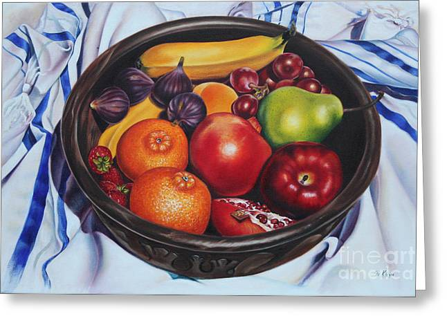 Fruit Of The Spirit Greeting Card by Ilse Kleyn