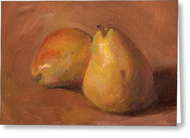 Timothy Chambers Greeting Cards - Fruit of the Spirit- Pear 1 Greeting Card by Timothy Chambers