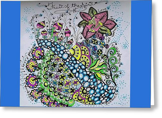 Recently Sold -  - Pen Greeting Cards - Fruit of the Spirit Greeting Card by The Sandwich  Woman