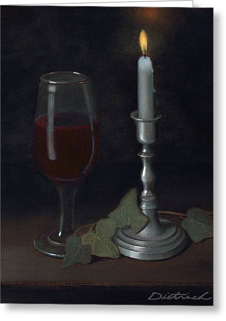 Candle Lit Greeting Cards - Fruit of the Tree Greeting Card by David John Dietrich