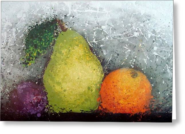 Fruit Greeting Card by Paula Weber