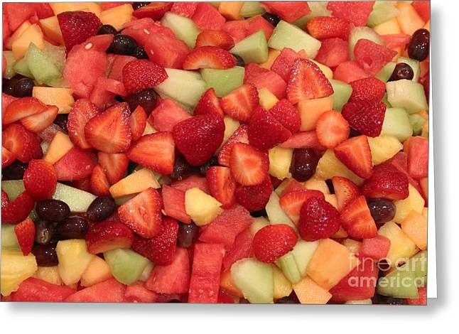 Menu Greeting Cards - Fruit Salad Greeting Card by Robert Wilder Jr