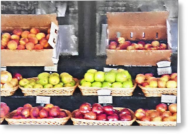Fruit Stand - Carmel California Greeting Card by Steve Ohlsen