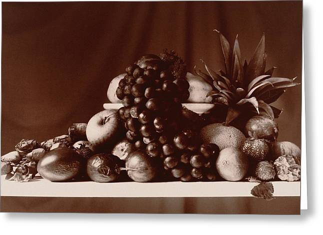 Fruit Still Life Greeting Card by Elspeth Ross