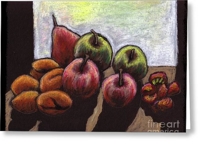 Apricots Pastels Greeting Cards - Fruit Still-Life Greeting Card by Jennifer Shepherd