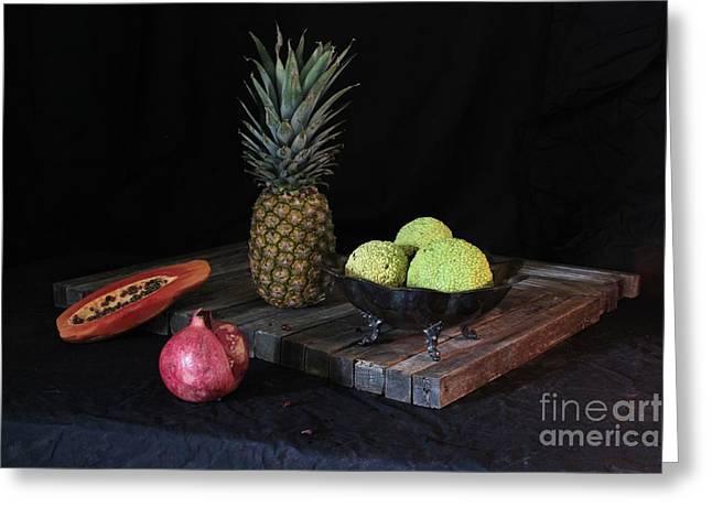 Fruit With Kryptonite Greeting Card by Joe Jake Pratt