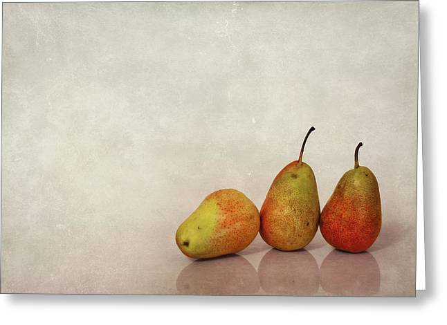 Pears Photographs Greeting Cards - Fruitful Days Greeting Card by Evelina Kremsdorf