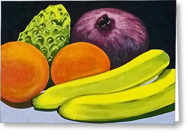 Cherimoya Greeting Cards - Fruitful Greeting Card by Neelee Art by Farah