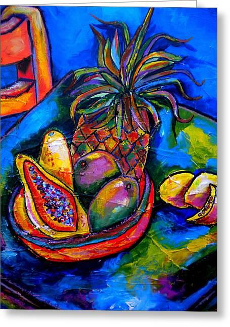 Papayas Greeting Cards - Fruitful Greeting Card by Patti Schermerhorn