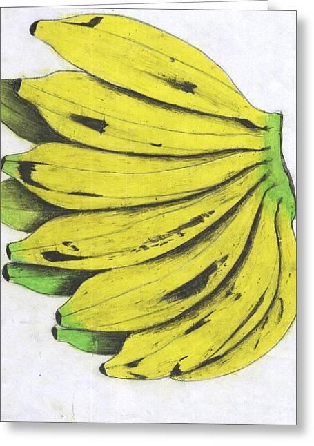 Banana Pastels Greeting Cards - Fruits Greeting Card by Daniel Kabugu