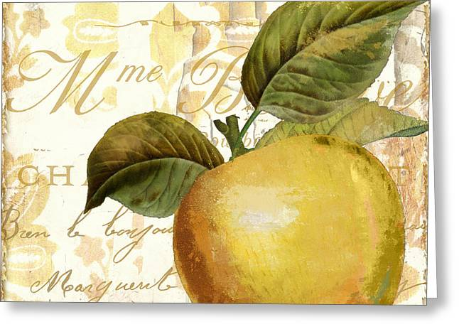 Fruits D'or Golden Apple Greeting Card by Mindy Sommers