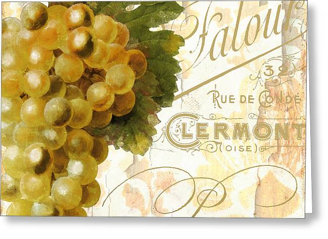 Pear Art Greeting Cards - Fruits dOr Golden Grapes Greeting Card by Mindy Sommers