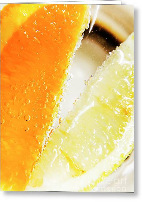 Fruity Drinks Macro Greeting Card by Jorgo Photography - Wall Art Gallery