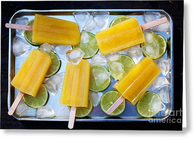 Sorbet Photographs Greeting Cards - Fruity popsicles Greeting Card by Kati Molin