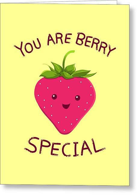 Fresh Food Drawings Greeting Cards - Fruity Truth Greeting Card by Ana Villanueva