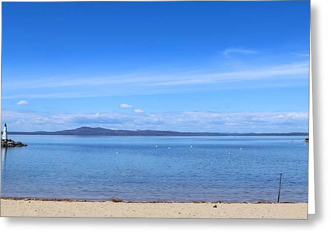 Maine Beach Greeting Cards - Frye Island lookout Greeting Card by Colleen Mars