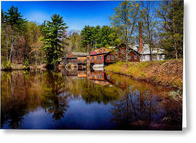 Barn Door Greeting Cards - Frye Measure Mill Greeting Card by Tricia Marchlik