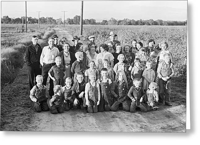 Fsa Cooperative Farm Greeting Card by Dorothea Lange