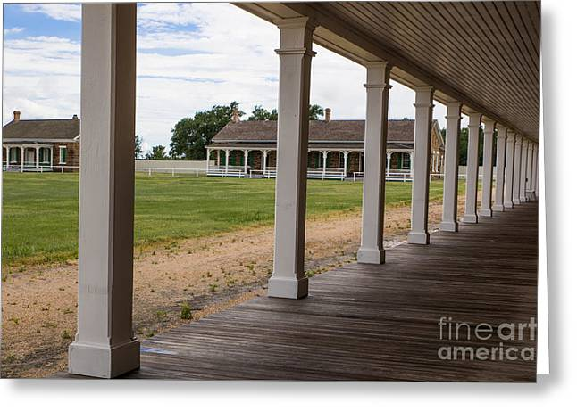 Larned Greeting Cards - Ft. Larned Greeting Card by Lynn Sprowl