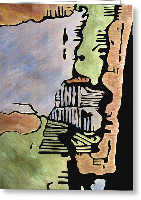 Edge Mixed Media Greeting Cards - Ft Lauderdale Resinated Greeting Card by Jason Charles Allen