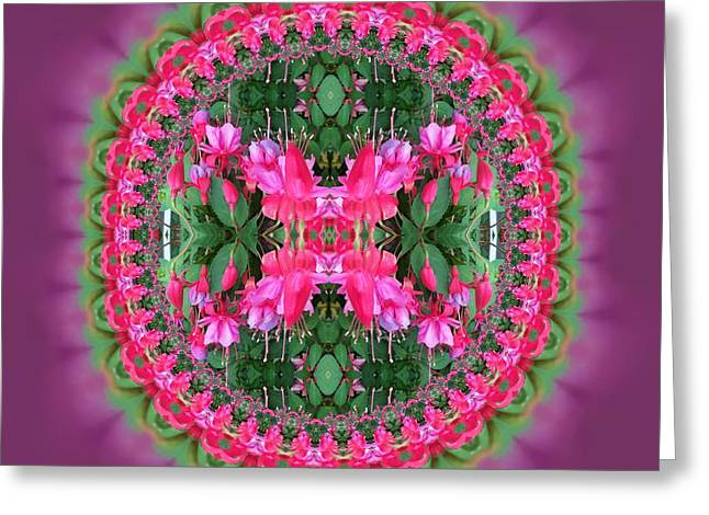 Fuchsia Fractal 2 Greeting Card by Nancy Pauling