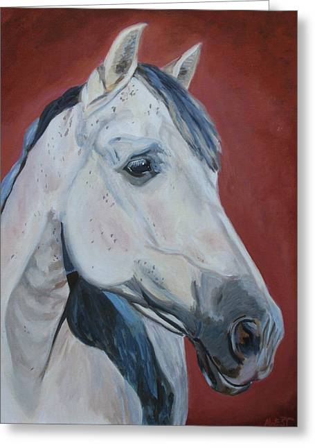 Equine Artist Greeting Cards - Fuego Greeting Card by Anne West
