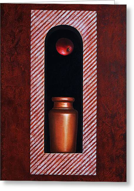 Fugitive Apple Essence Greeting Card by Horacio Cardozo