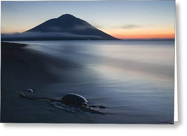 Sea Shore Photographs Greeting Cards - Fuji Etorofu Greeting Card by Alexey Kharitonov