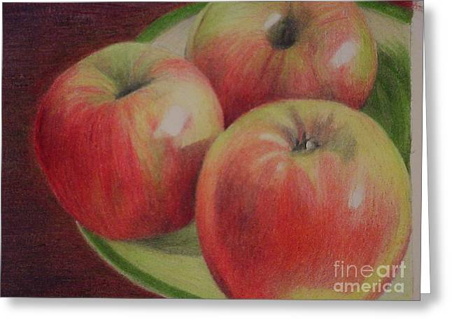 Still Life Photographs Drawings Greeting Cards - Fuji Three Greeting Card by David Ackerson