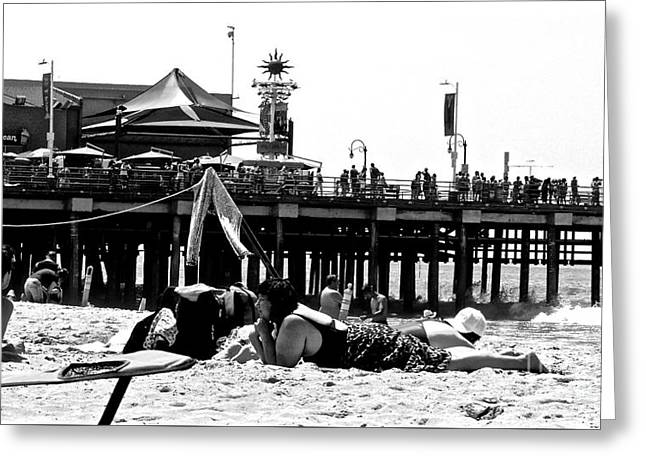 Amusements Greeting Cards - The Past on the Pier Greeting Card by Jacqueline Howe