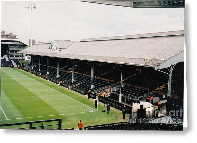 Craven Cottage Greeting Cards - Fulham - Craven Cottage - East Stand Stevenage Road 4 - Leitch - July 2004 Greeting Card by Legendary Football Grounds