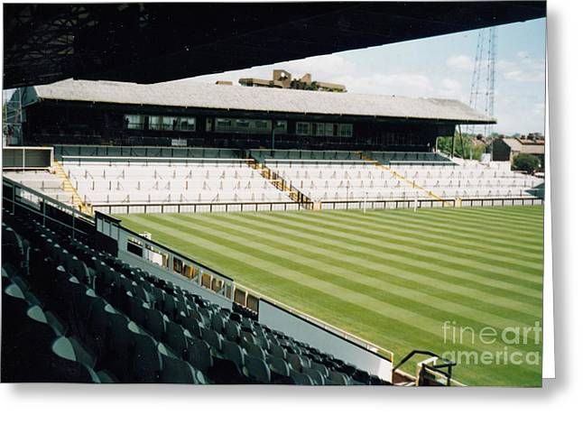 Craven Cottage Greeting Cards - Fulham - Craven Cottage - North Stand Hammersmith End 2 - August 1998 Greeting Card by Legendary Football Grounds