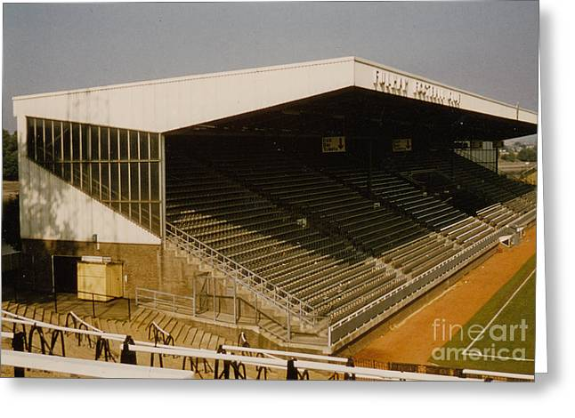 Craven Cottage Greeting Cards - Fulham - Craven Cottage - Riverside Stand 2 - August 1986 Greeting Card by Legendary Football Grounds