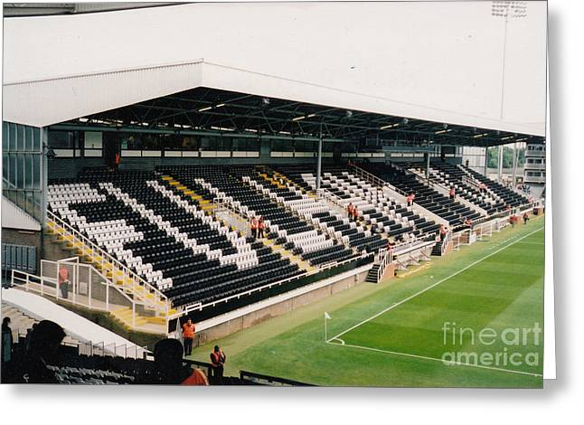 Craven Cottage Greeting Cards - Fulham - Craven Cottage - Riverside Stand 5 - July 2004 Greeting Card by Legendary Football Grounds