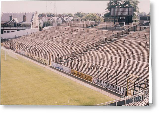 Craven Cottage Greeting Cards - Fulham - Craven Cottage - South Stand 1 - August 1986 Greeting Card by Legendary Football Grounds