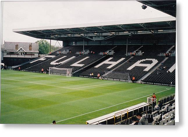 Craven Cottage Greeting Cards - Fulham - Craven Cottage - South Stand 2 - July 2004 Greeting Card by Legendary Football Grounds