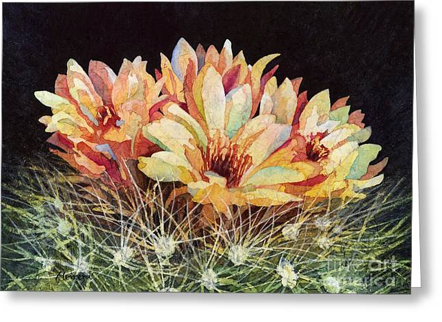 Cactus Flowers Greeting Cards - Full Bloom Greeting Card by Hailey E Herrera