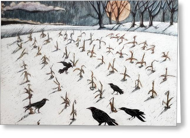Full Cold Moon Greeting Card by Grace Keown